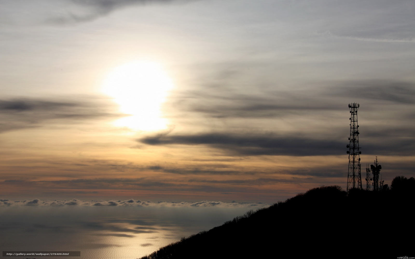 Download wallpaper Tower, sunset, sea, landscape free ...