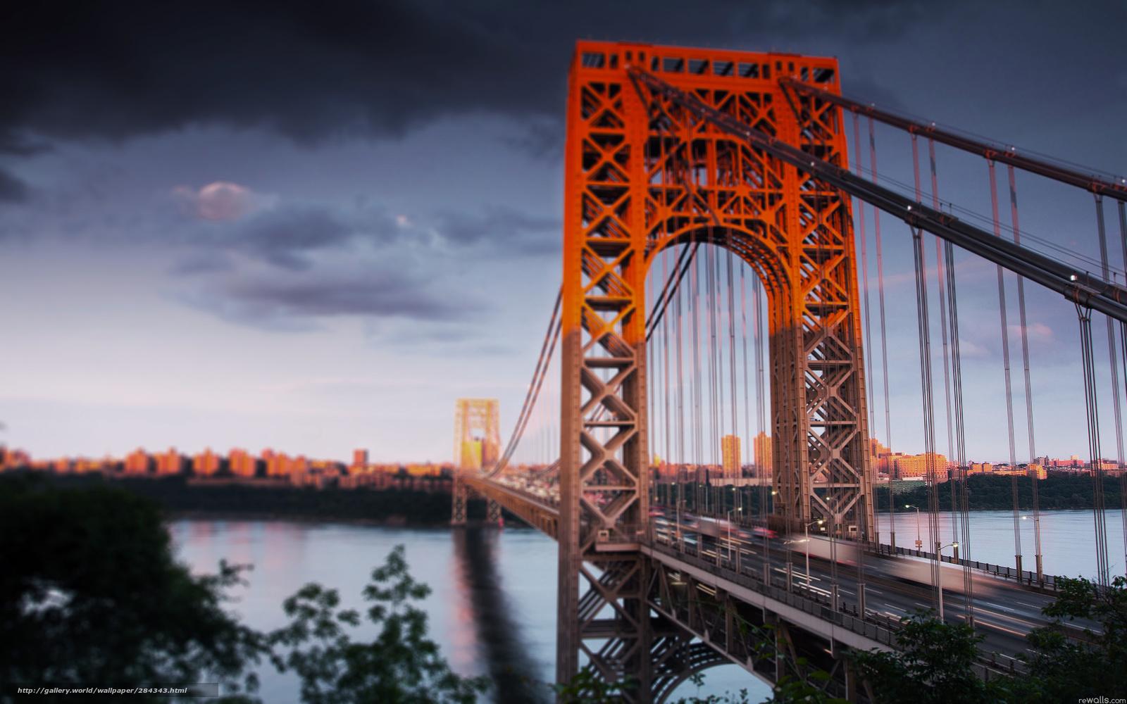 Tlcharger fond d 39 ecran pont ville new york beaut fonds for Ville a new york
