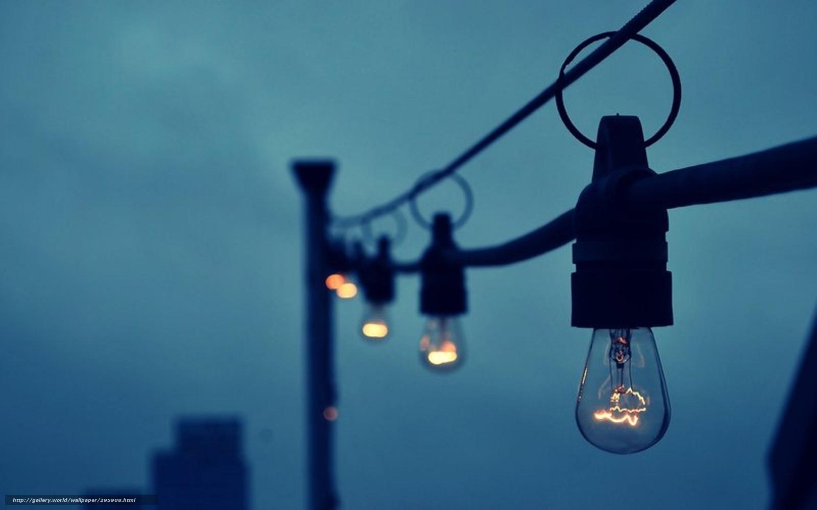 download wallpaper light bulb light evening wire free