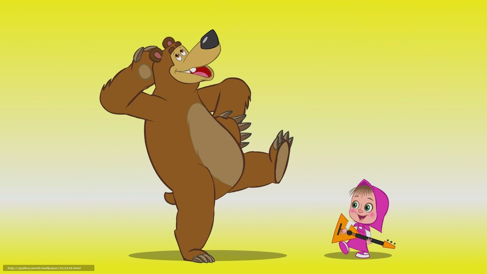 Scaricare gli sfondi cartone animato masha e l orso