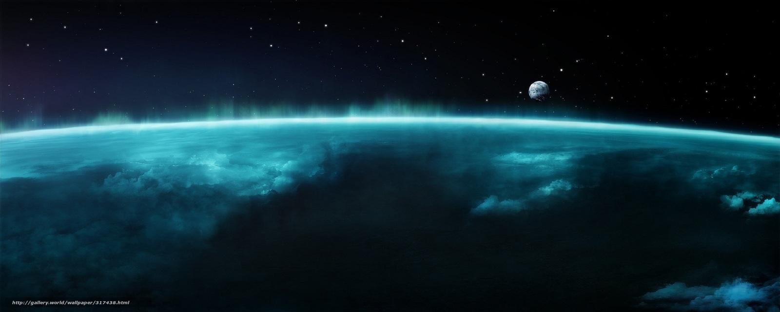 Скачать обои земля луна космос