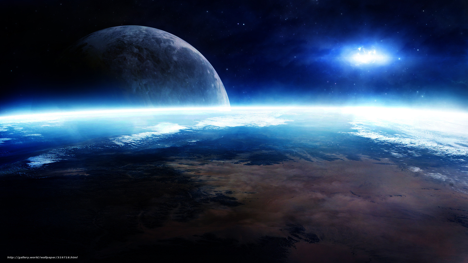 Descargar Gratis Espacio, Tierra, Luna, Planeta Fondos De