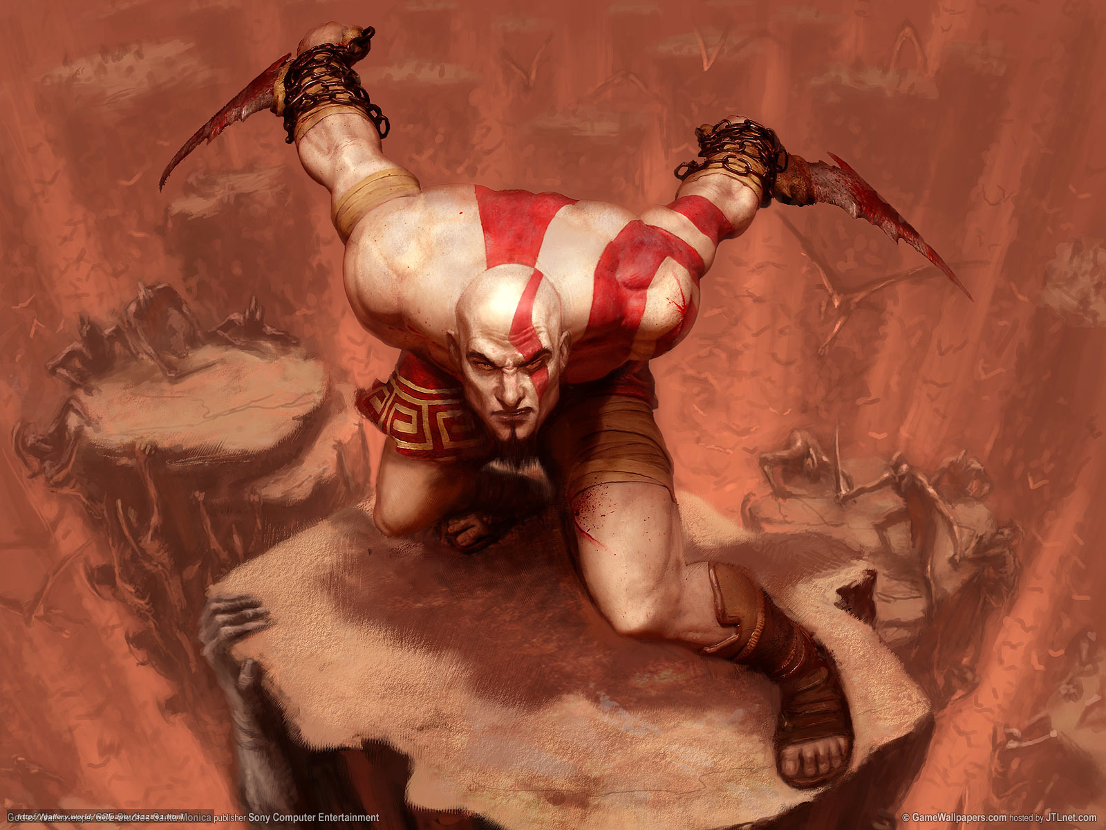 Download wallpaper game, kratos, God of War free desktop wallpaper