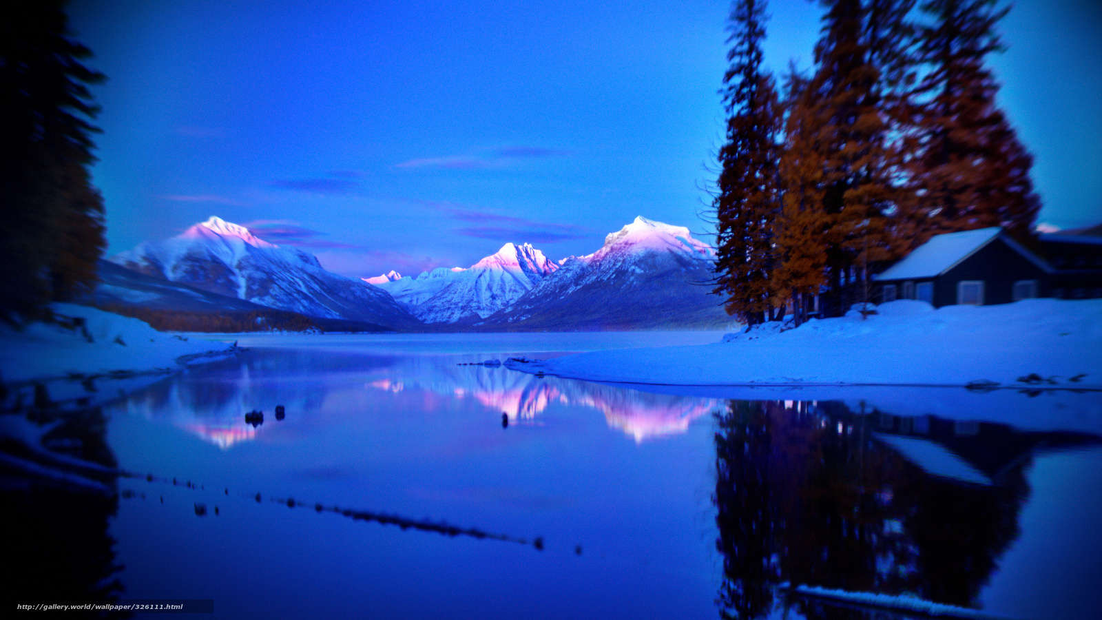 Scaricare gli sfondi inverno montagne loggia sfondi for Sfondi gratis desktop inverno