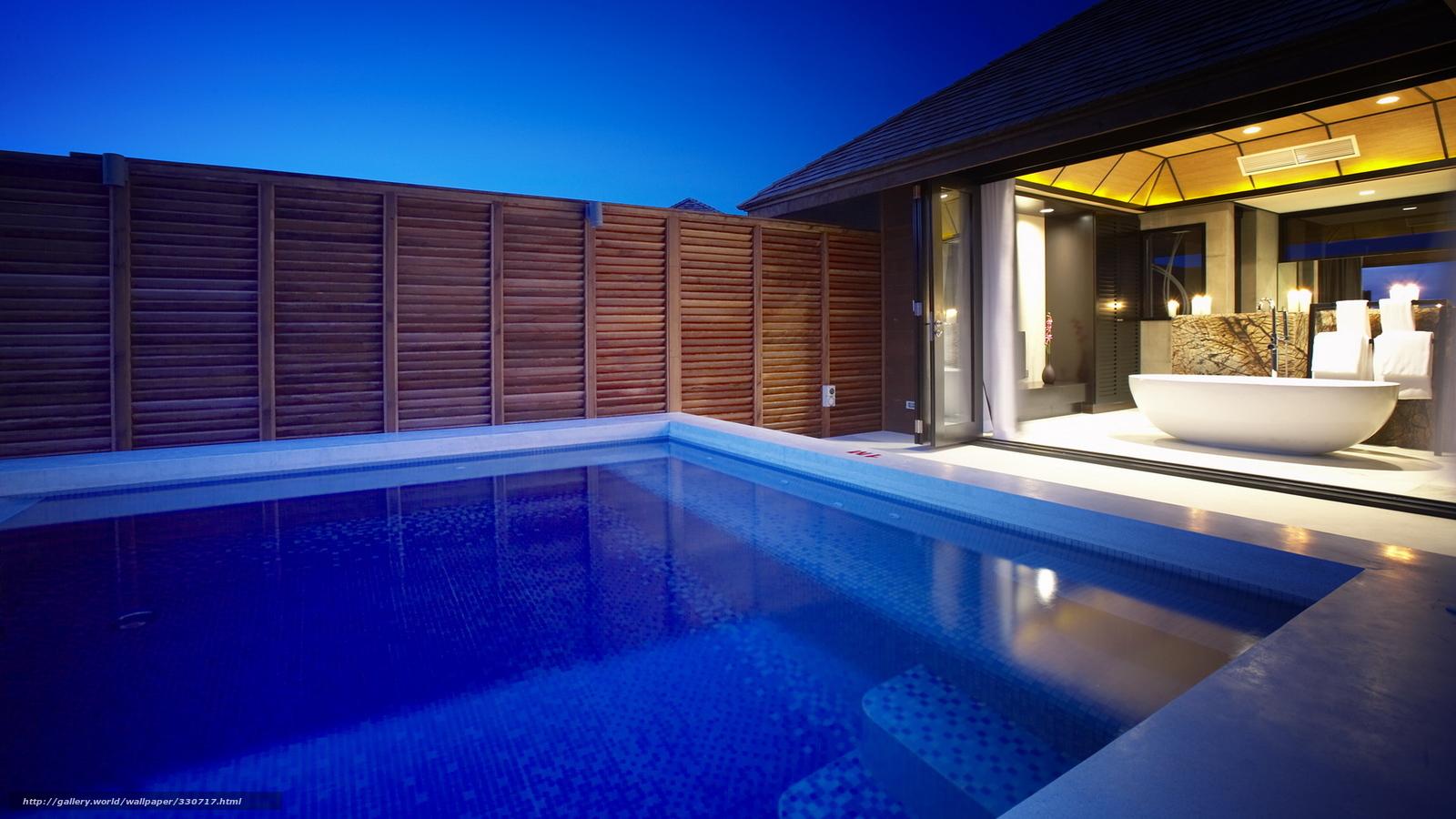 Descargar gratis interior piscina agua casa fondos de escritorio en la resolucin 1920x1080 - Piscina interior casa ...