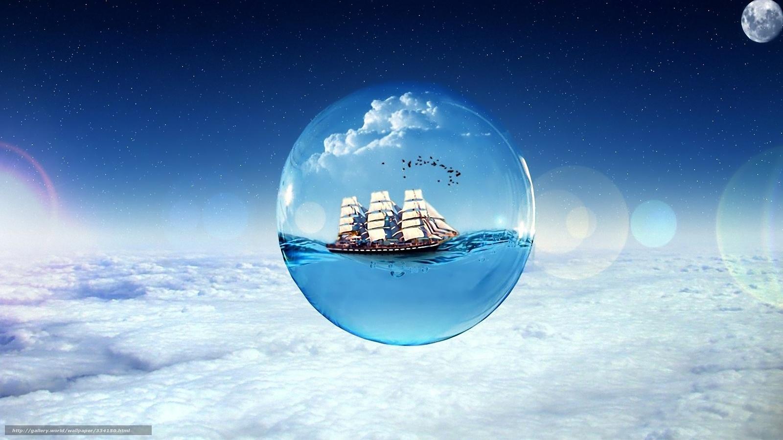 Scaricare gli sfondi sogni nave nuvole sfondi gratis per for Sfondi desktop aurora boreale