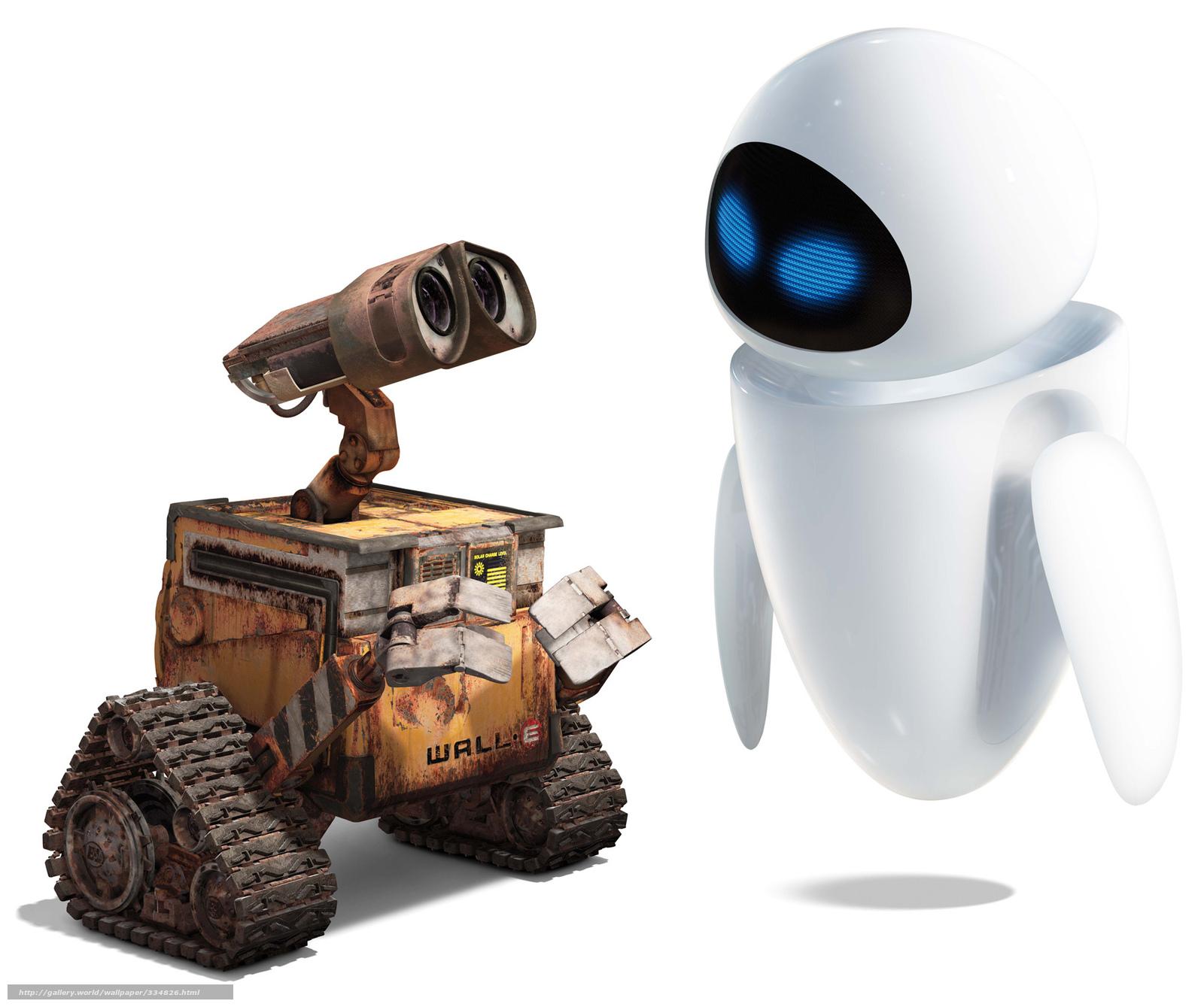 Scaricare gli sfondi cartone animato bianco robot amore