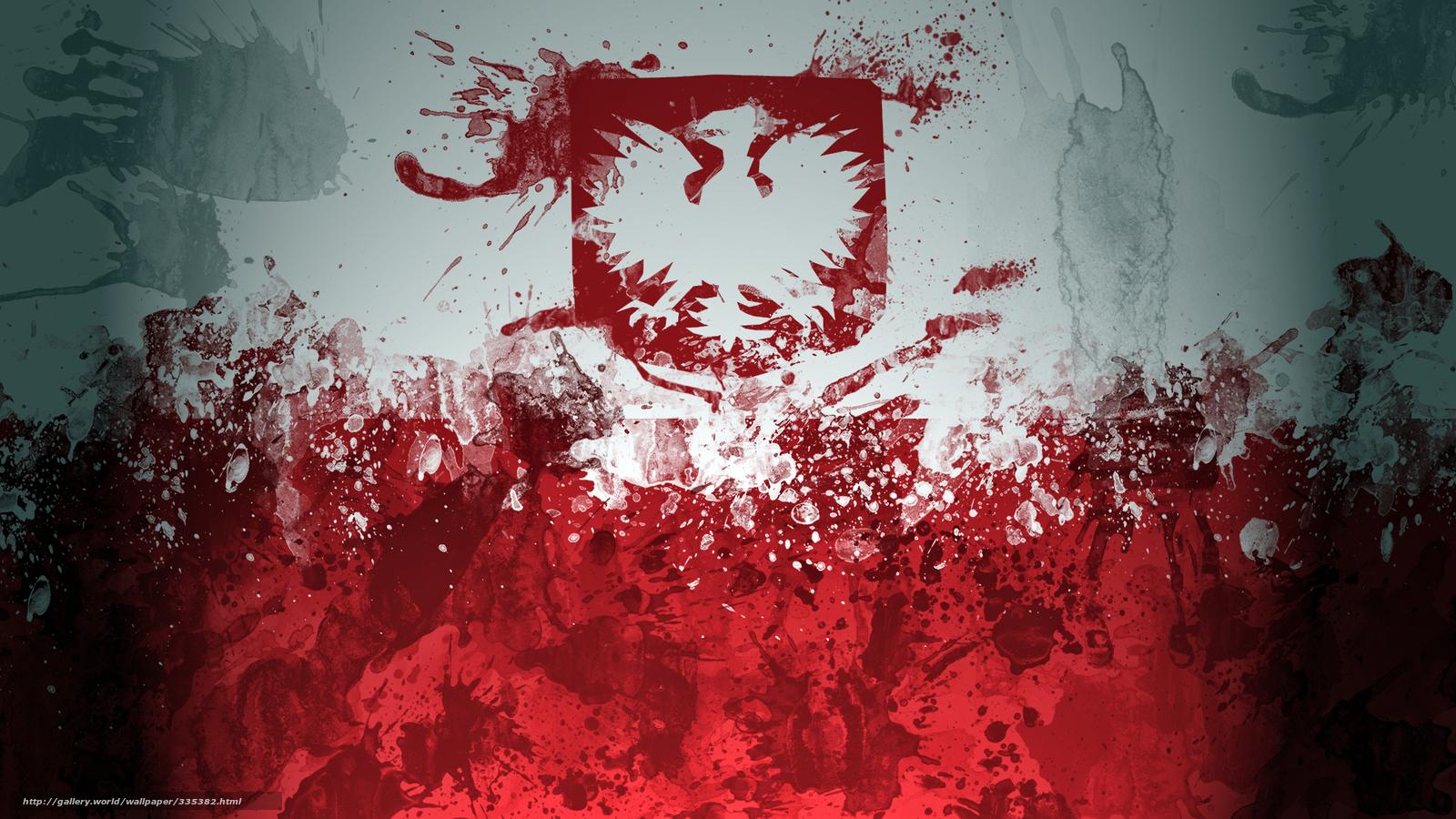Tapeta flaga, Polska №335382 / Sekcja: Tekstura / pl.HallPic.com