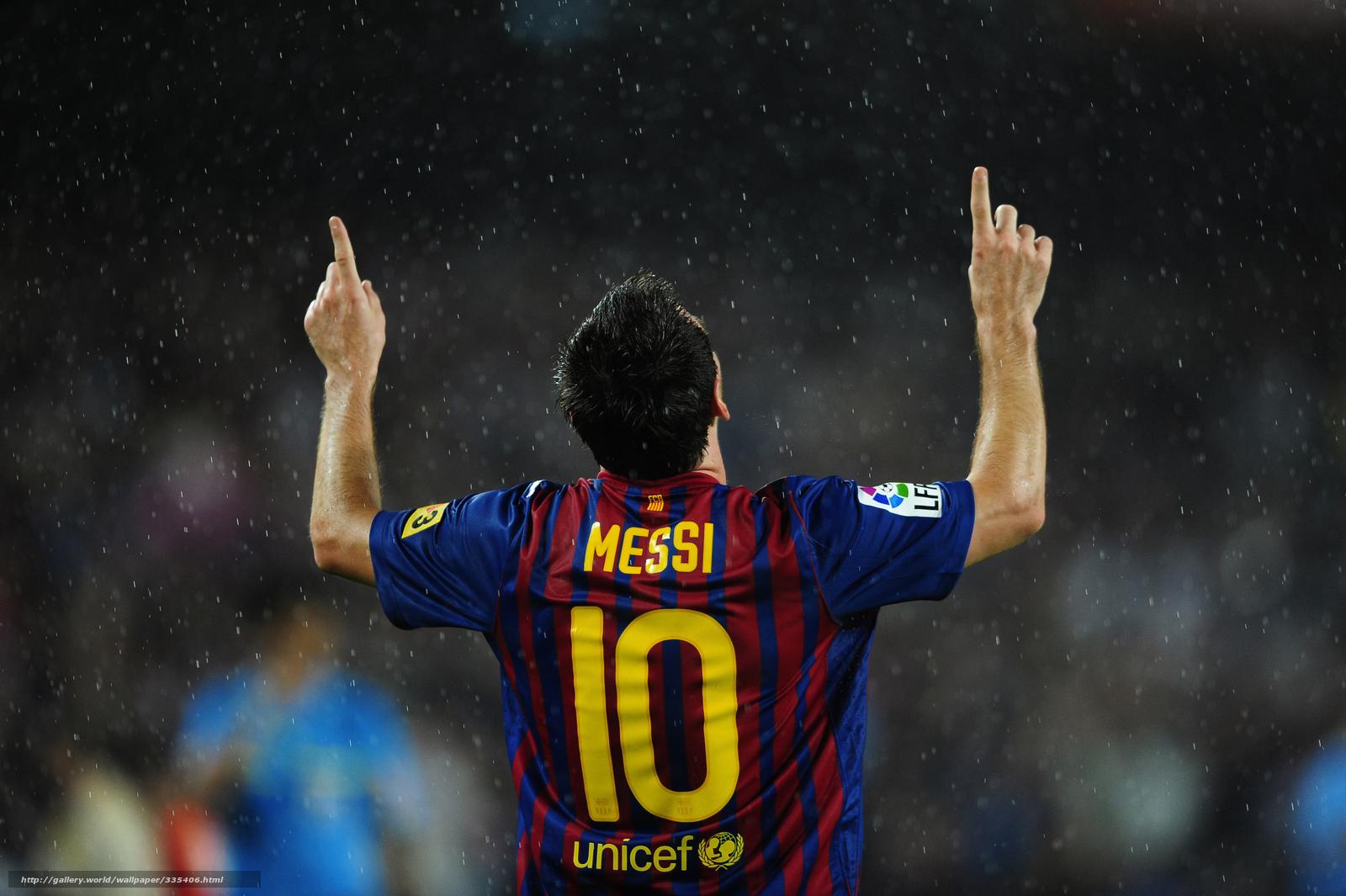 Download Wallpaper Lionel Messi Rain Fc Barcelona