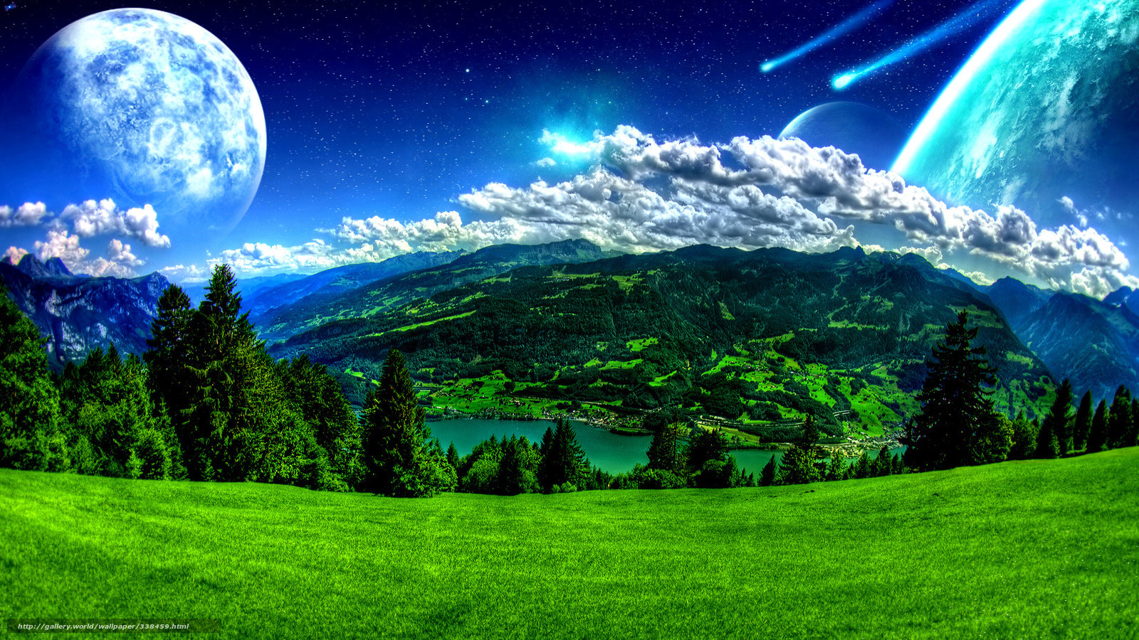 Download wallpaper Highlands, sky, Planet free desktop ...