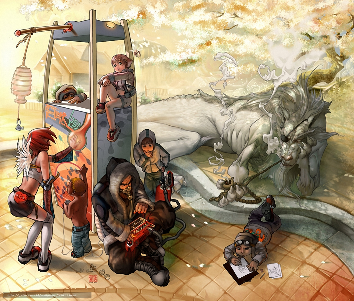 Скачать обои для рабочего стола дракон, люди, аниме все бесплатно на...