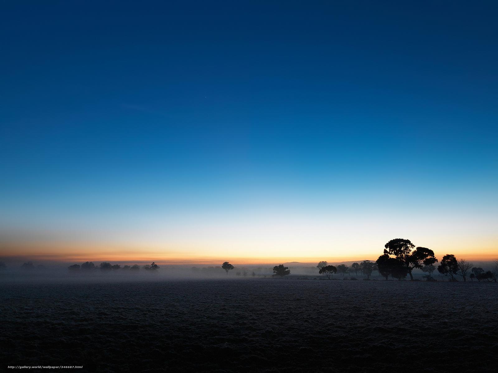 Download Wallpaper Field Plain Sky Twilight Free