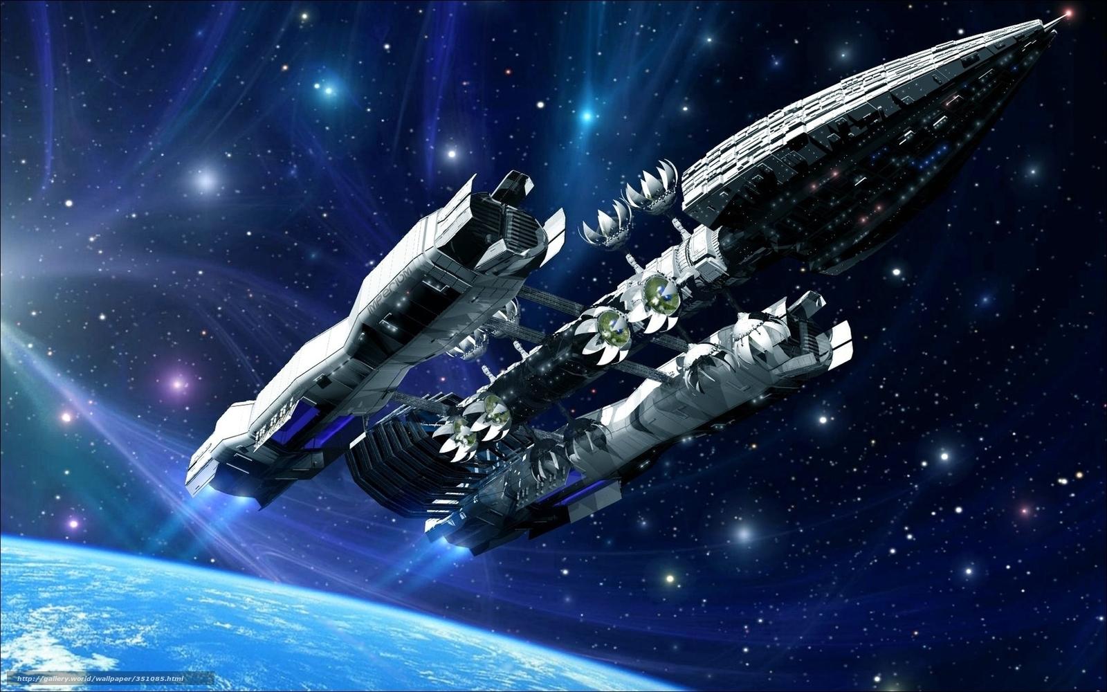 tlcharger fond d 39 ecran espace rendu vaisseau spatial fantaisie fonds d 39 ecran gratuits pour. Black Bedroom Furniture Sets. Home Design Ideas