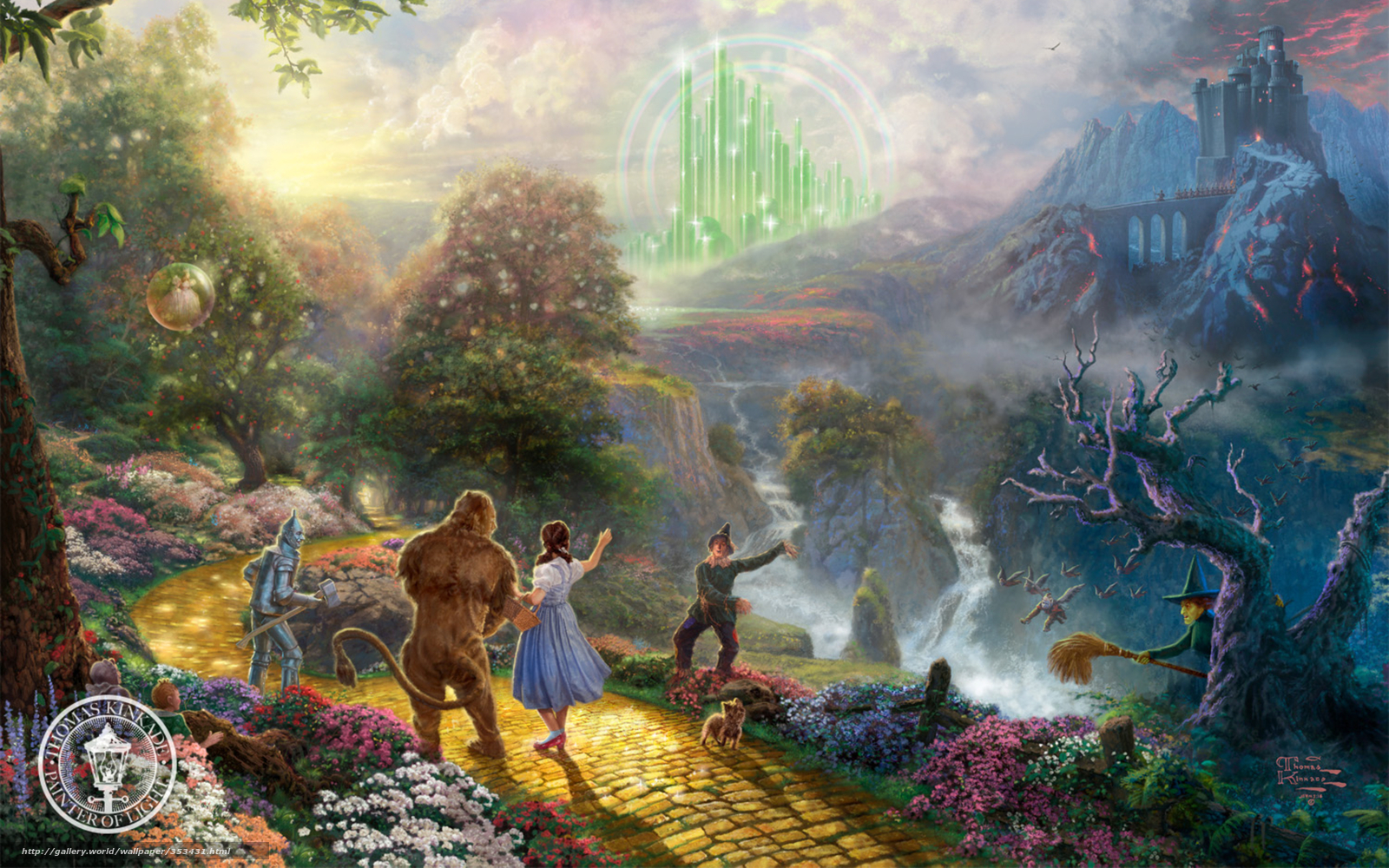 Download wallpaper painting thomas kinkade animated film free