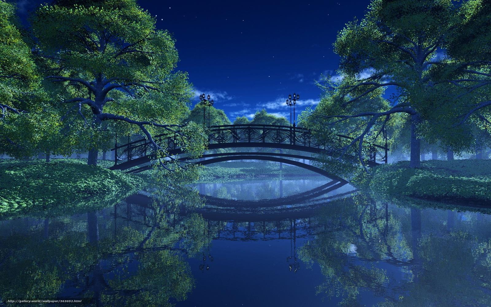 Арт аниме пейзаж