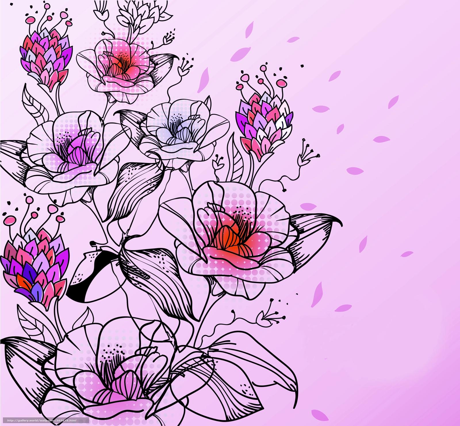 Цветочки нарисованные картинки