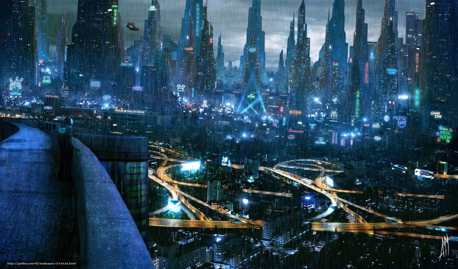 Download wallpaper Cyberpunk, future, rain, city free ...