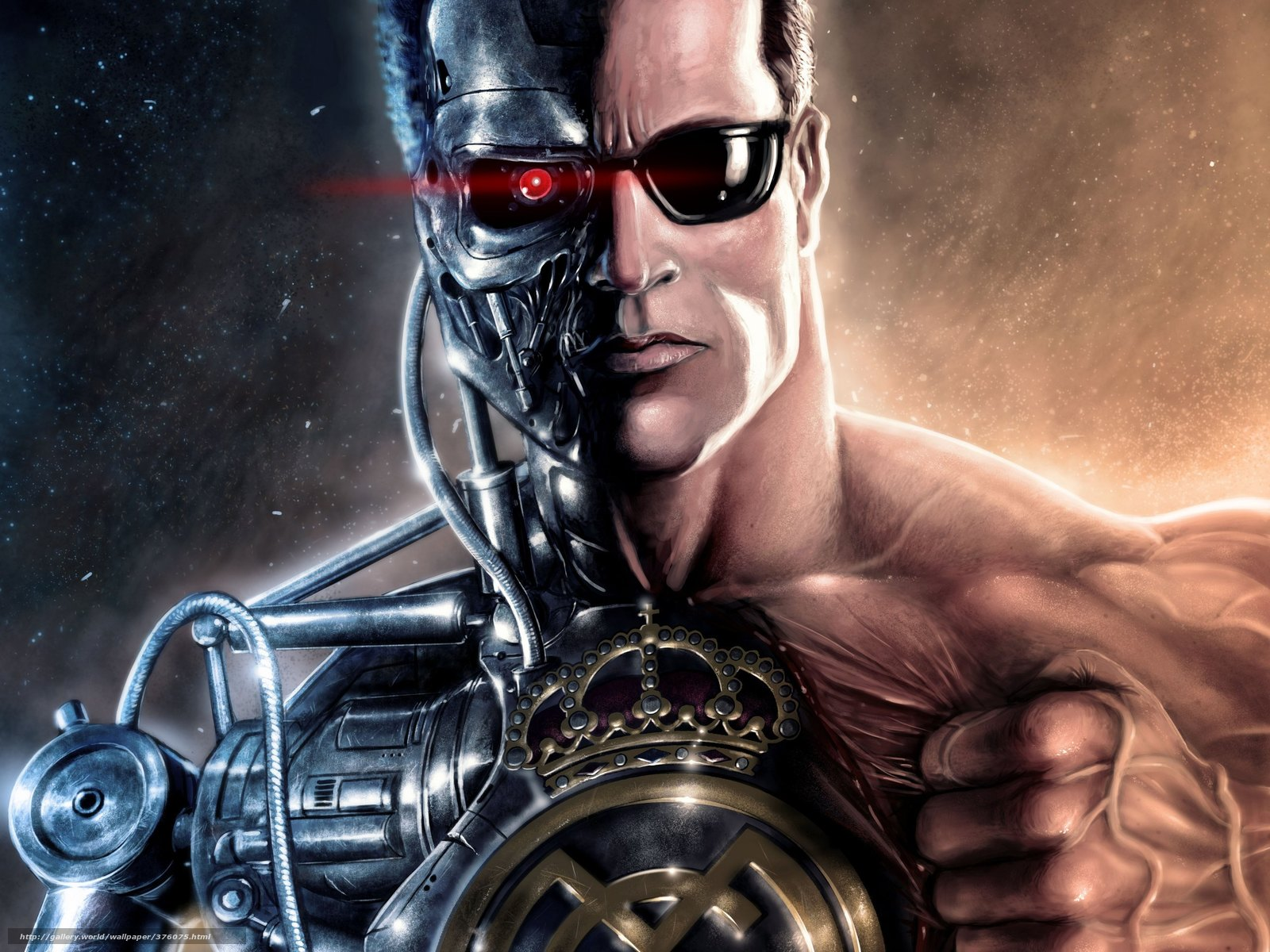 Download wallpaper Terminator, Cyborg, Arnold free desktop wallpaper