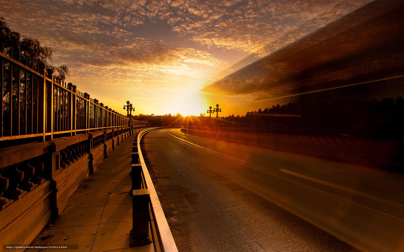 Картинки заката солнца в городе