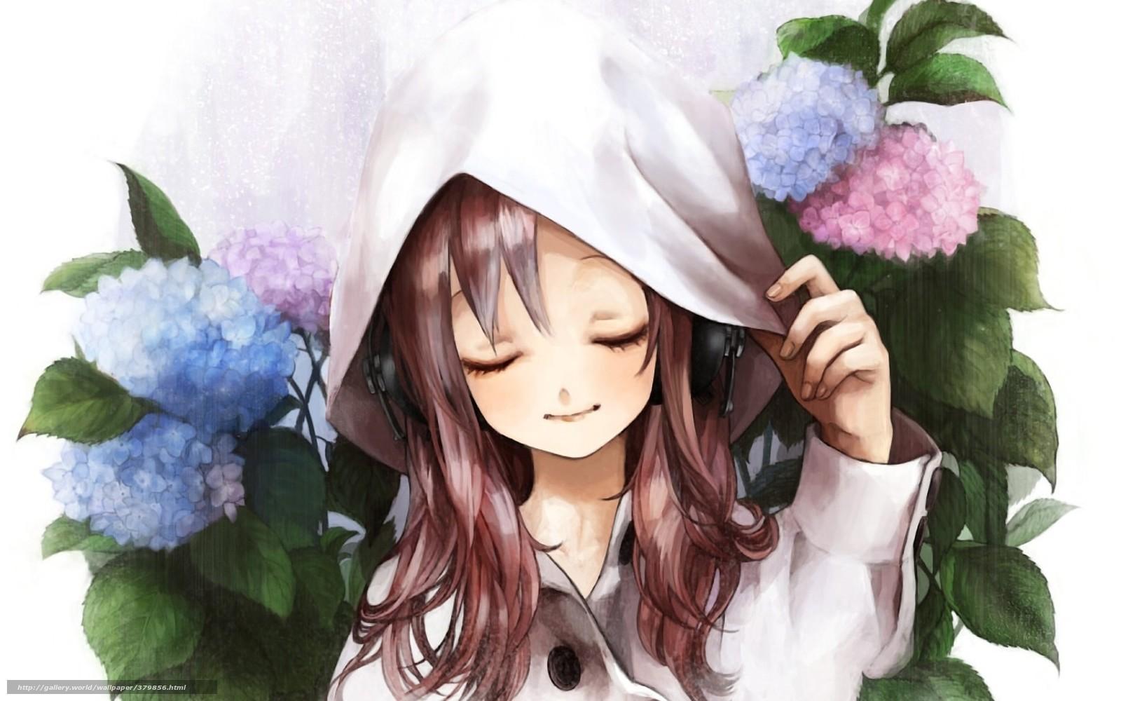 Девушка в капюшоне арт