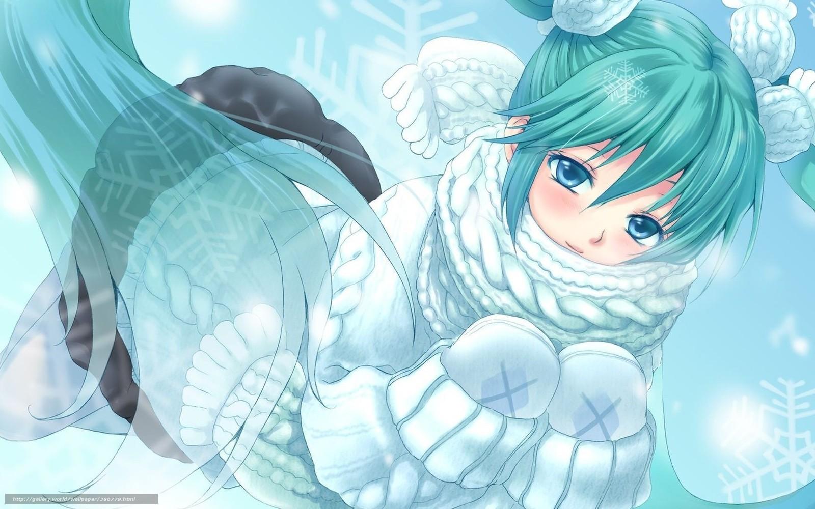 Winter anime wallpaper 2017 grasscloth wallpaper - Winter anime girl wallpaper ...