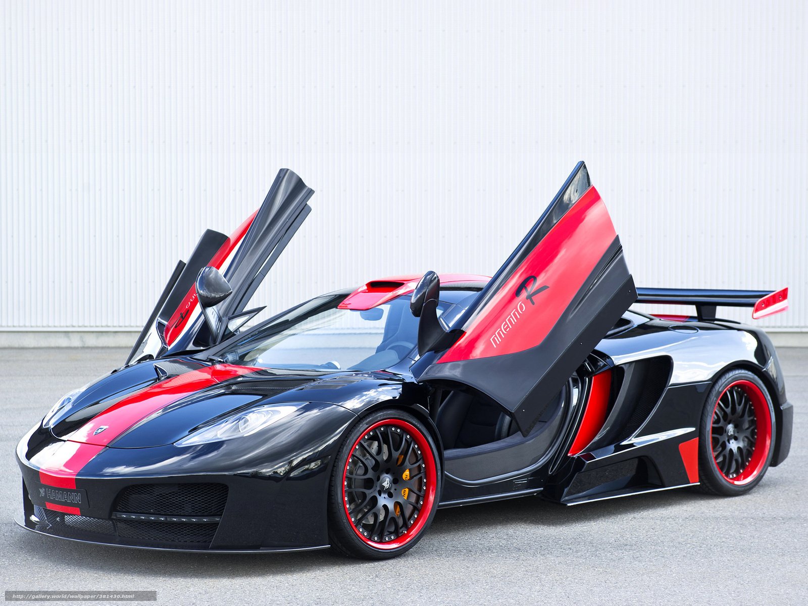 Black With Red Car Wallpaper