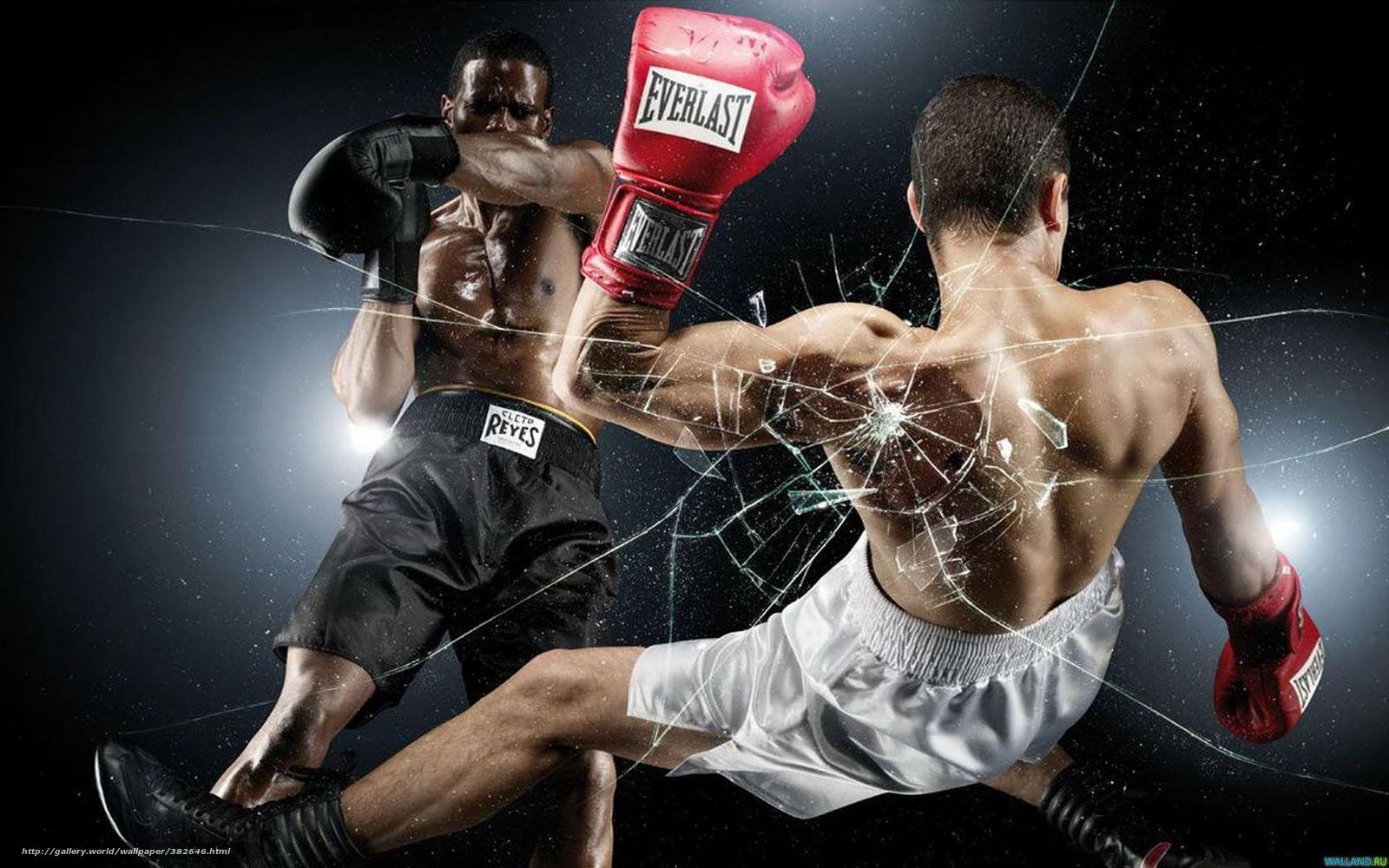 Скачать обои бокс удар нокаут ринг