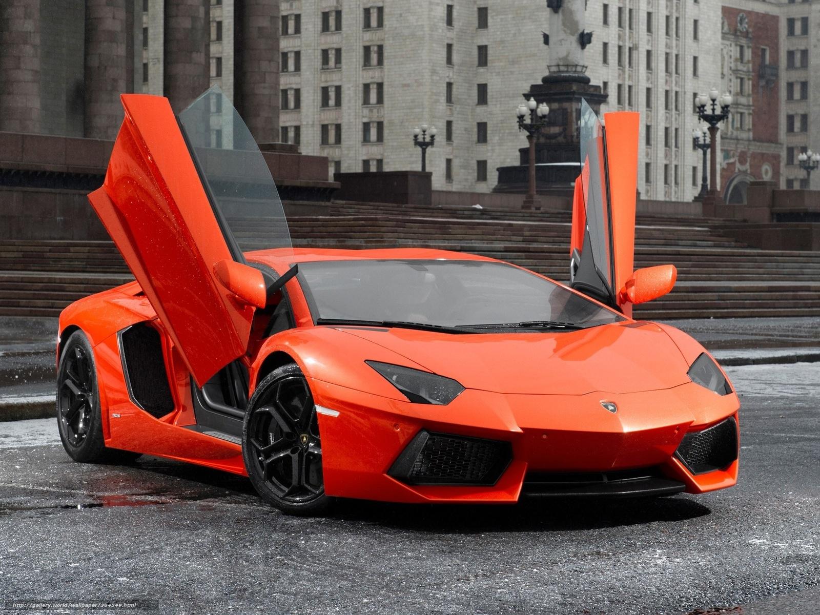 Download Wallpaper Lamborghini Aventador Red Cars Free