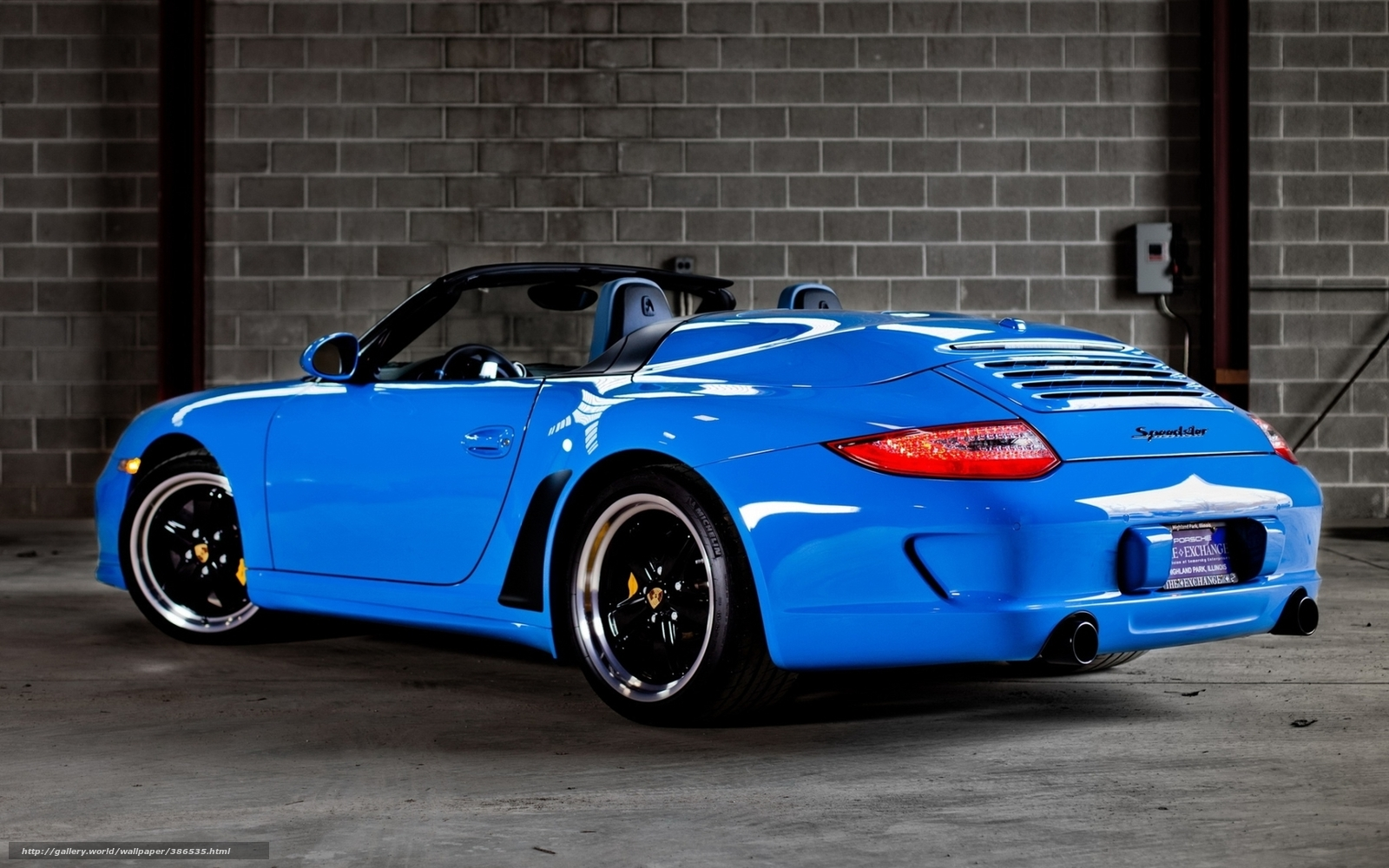 Download Wallpaper Porsche Speedster Supercar Back View