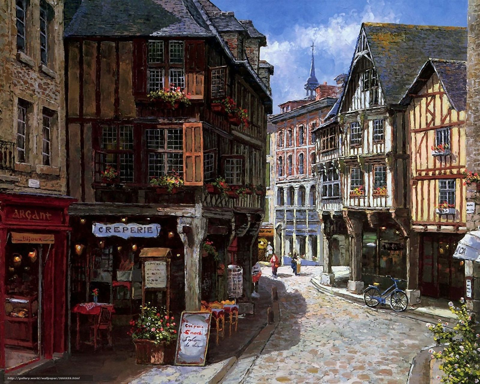 download wallpaper picture europe city street free