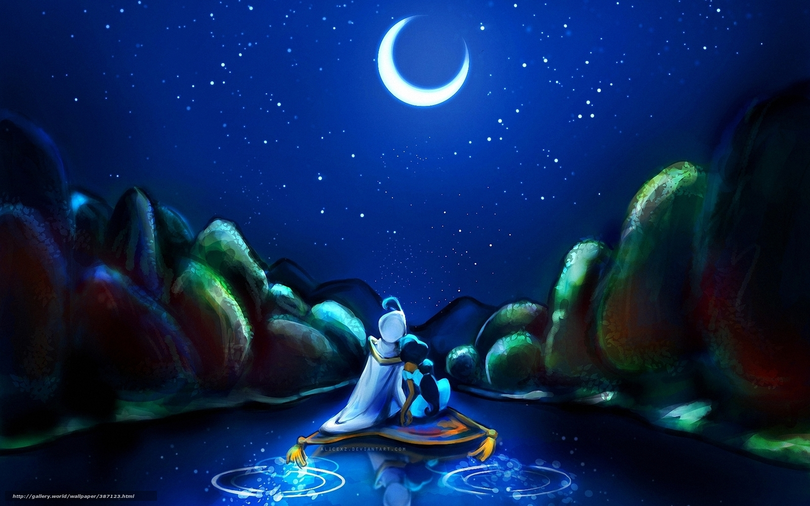 for Aladdin and jasmine on carpet wallpaper