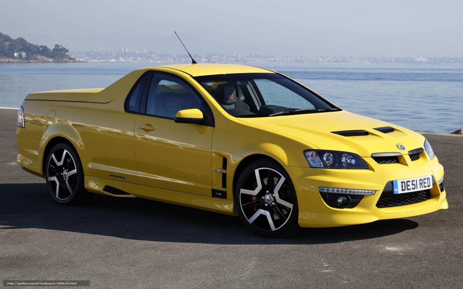 Download wallpaper Vauxhall, little, pickup, yellow free ...