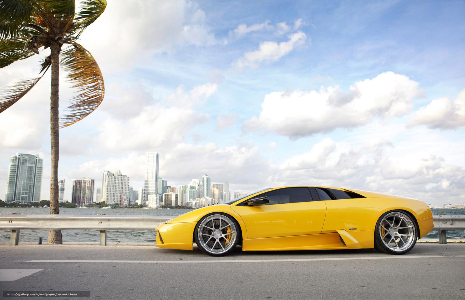 Download Wallpaper Lamborghi Miami Yellow Pylmy Free Desktop Wallpaper In The Resolution