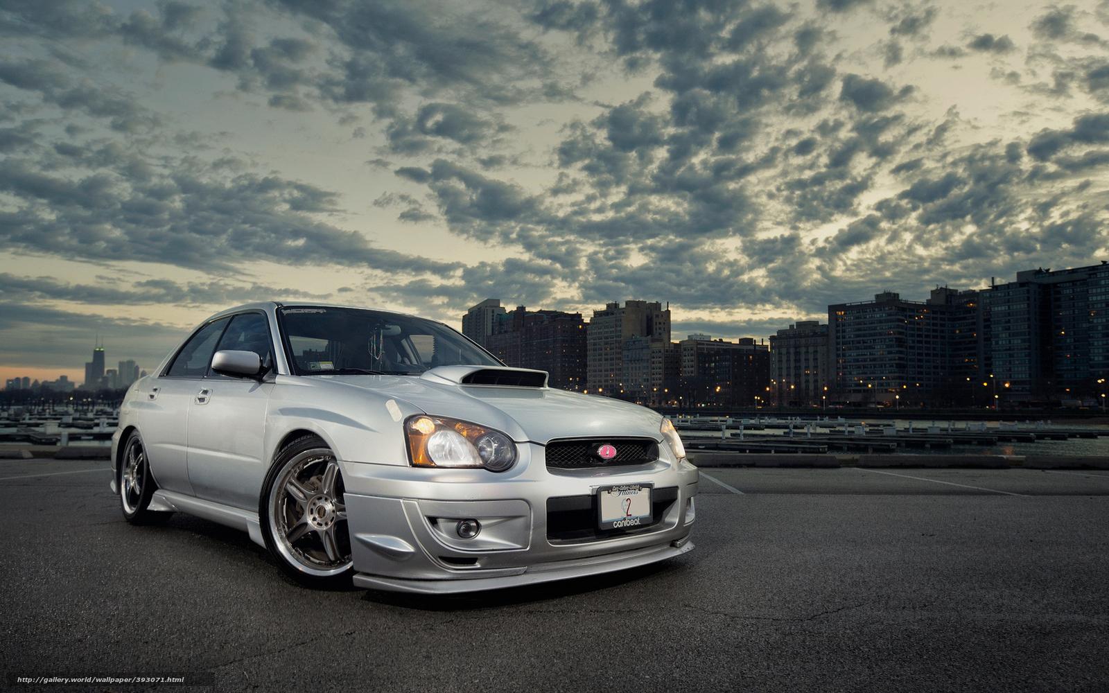 Download Wallpaper Subaru Impreza Silver City Free Desktop Wallpaper In The Resolution