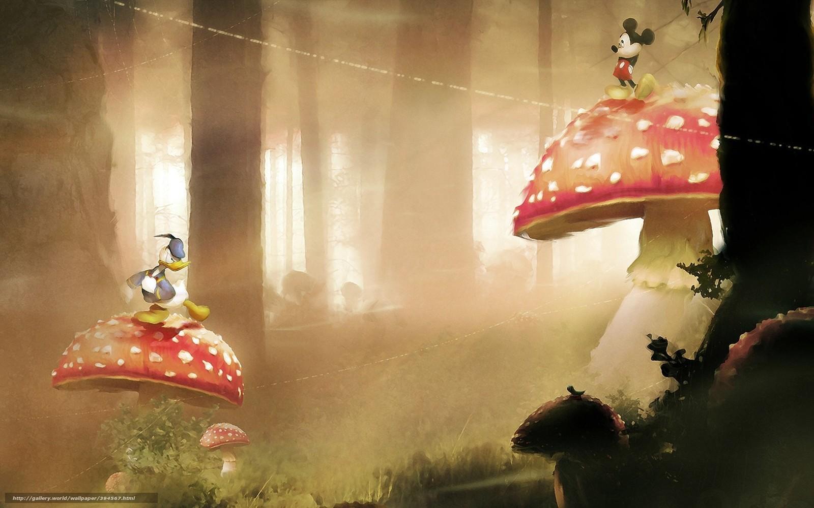 Amanita, foresta, funghi, alberi, cartone animato, erba
