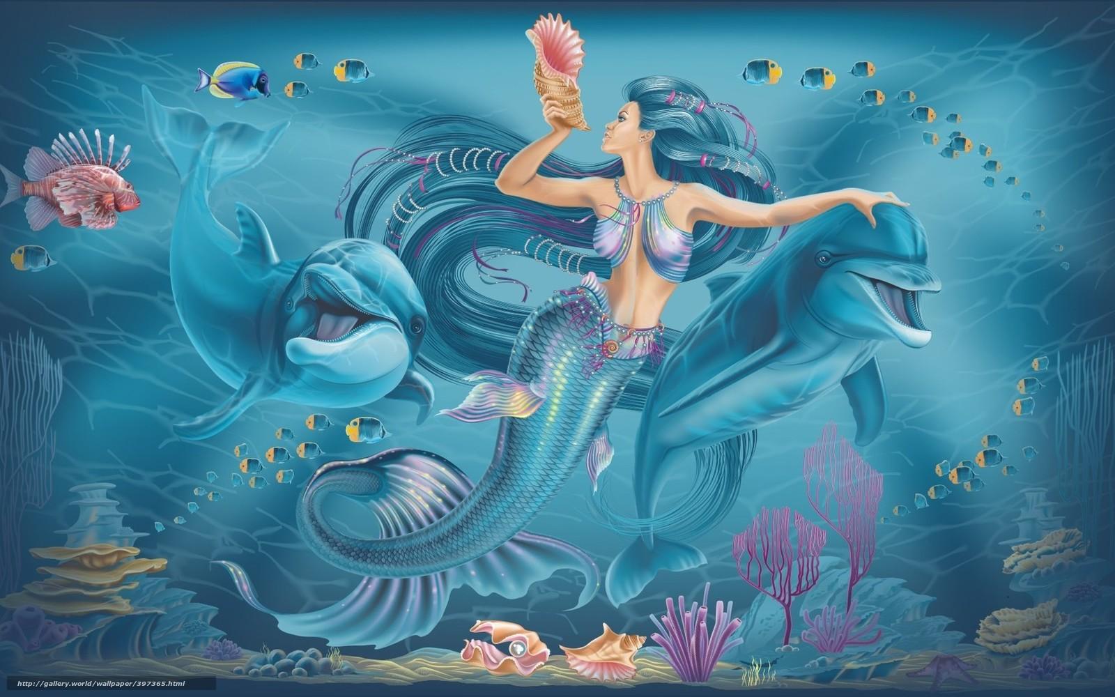 underwater mermaid wallpaper - photo #25
