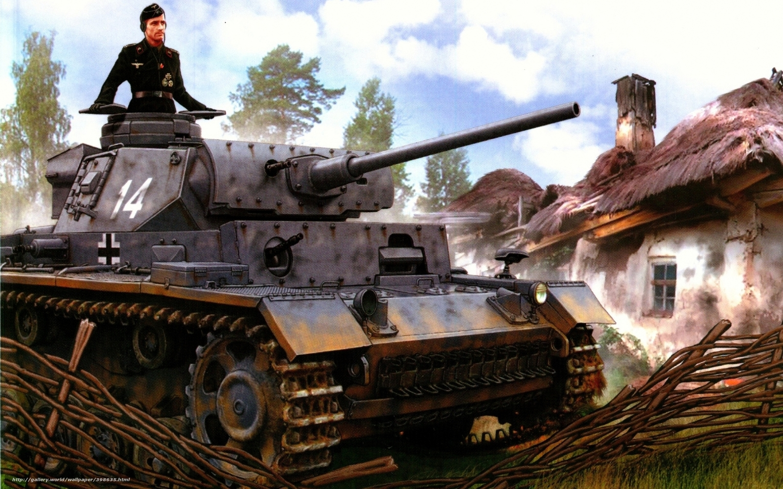 download wallpaper panzer iii ww2 military art free