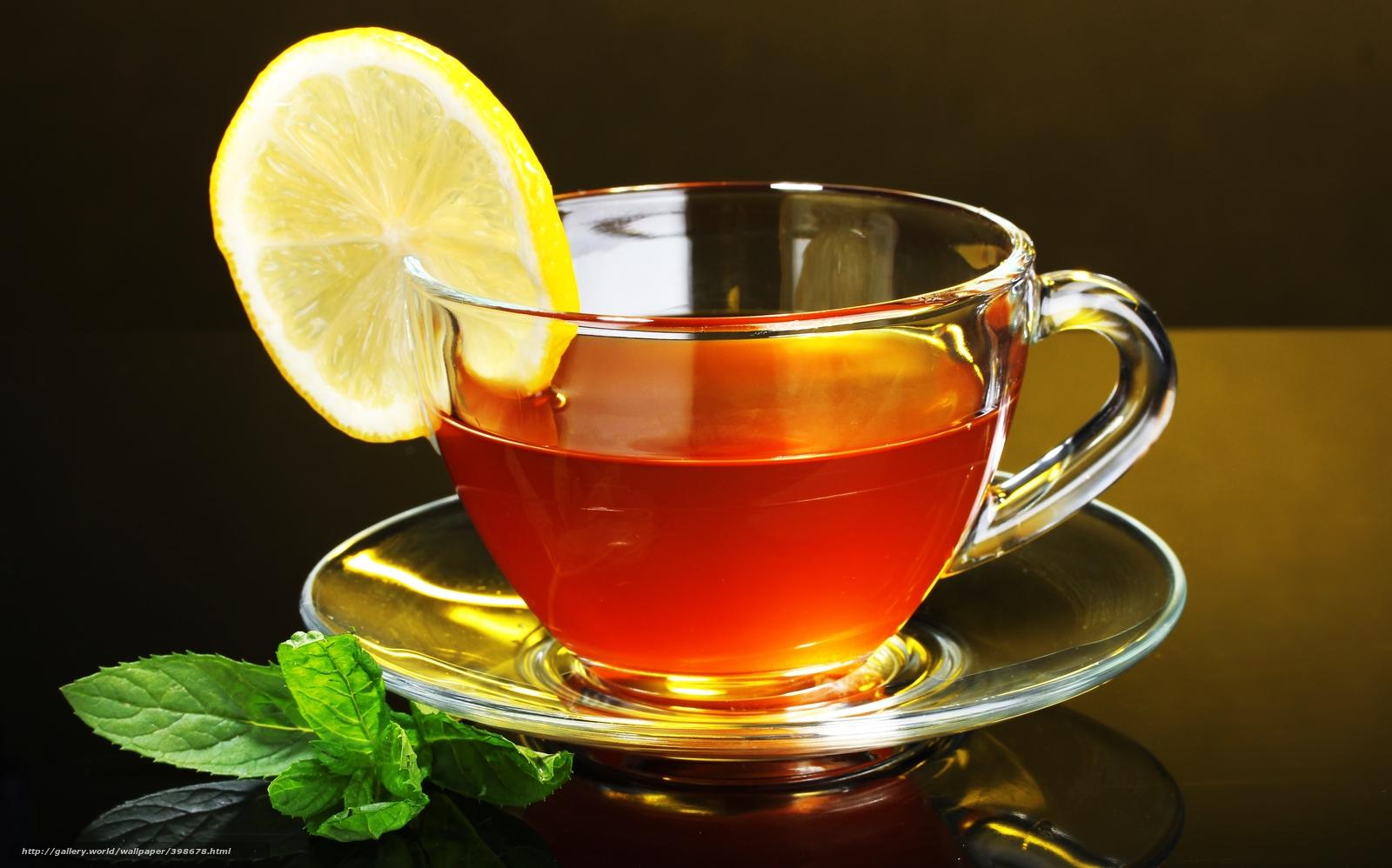 Скачать обои чай,  лимон,  чашка,  блюдце бесплатно для рабочего стола в разрешении 5000x3120 — картинка №398678