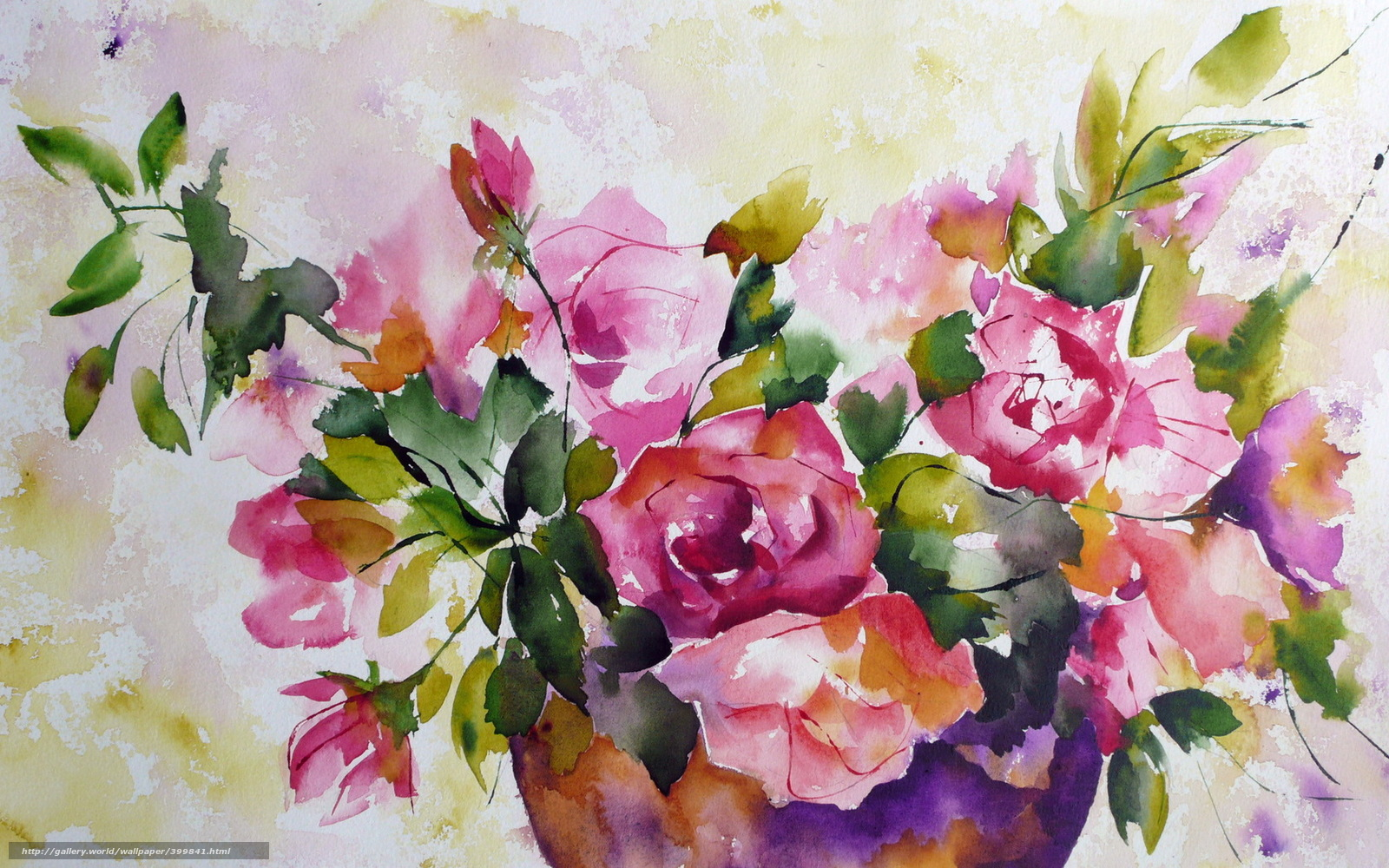 flower painting watercolor wallpaper - photo #4
