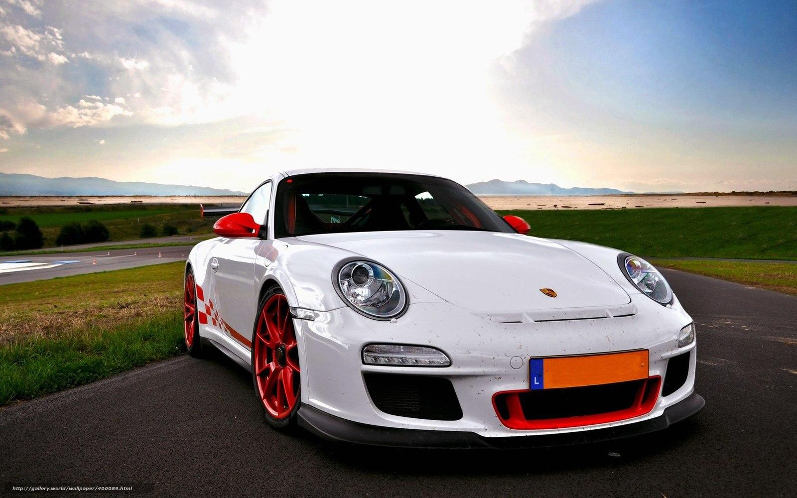 Download Wallpaper Car Porsche White Supercars Free