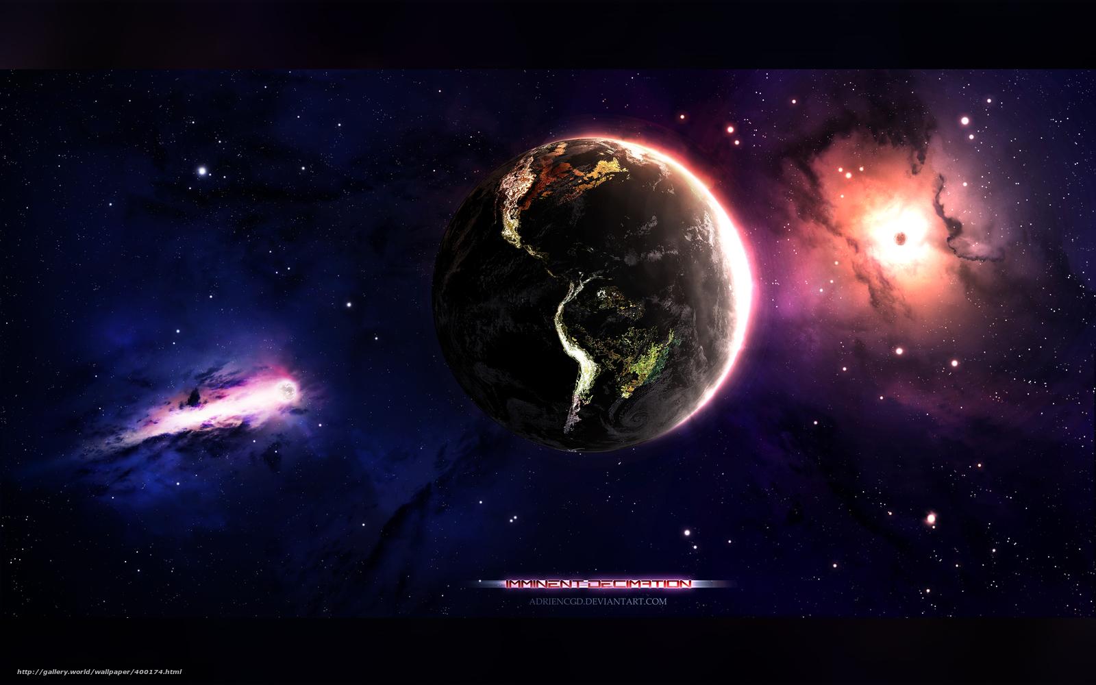 , арт, космос бесплатно для рабочего ...: ru.gde-fon.com/download/planeta_zemlya_art_kosmos_tumannost_zvezdy...