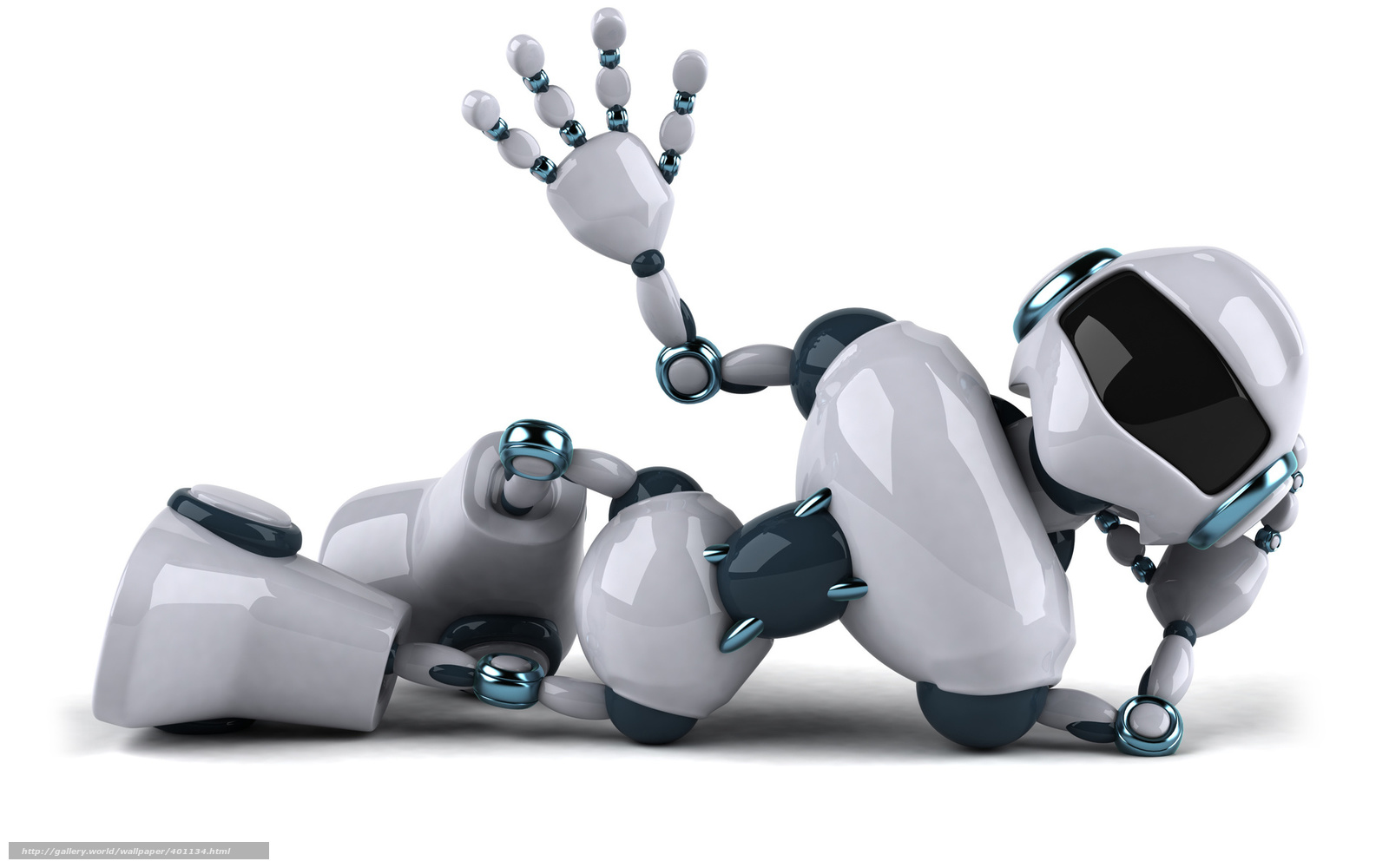 Wallpaper Alienware y Robots Blancos en HD