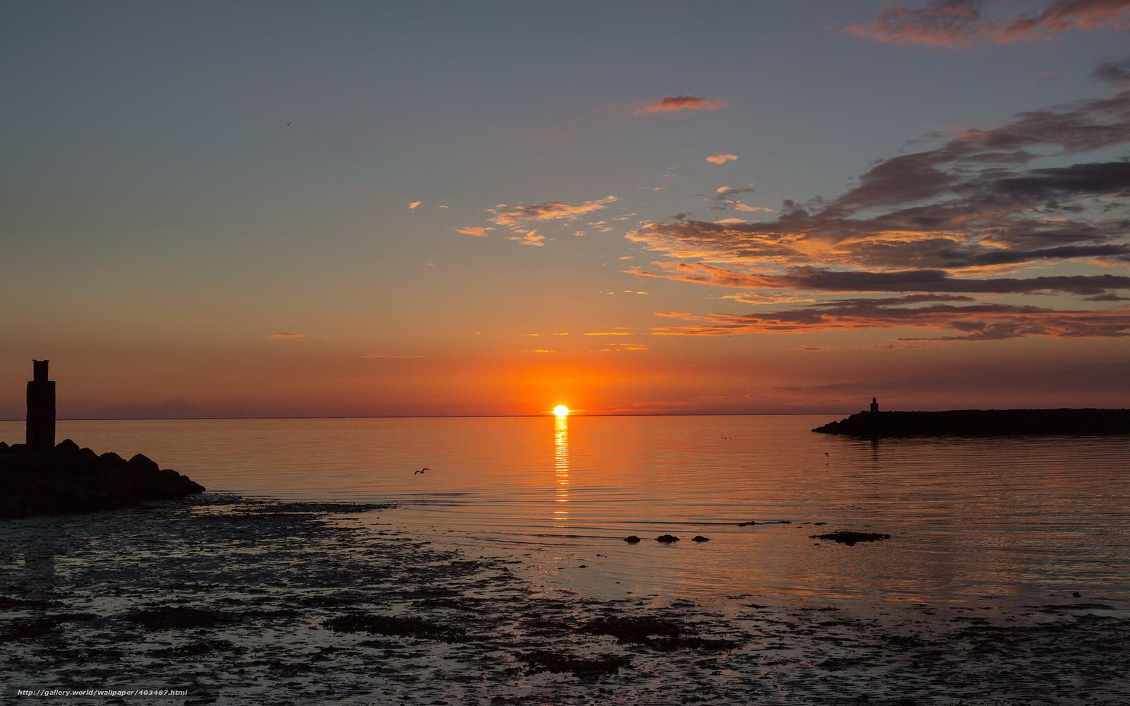 Scaricare gli sfondi tramonto mare paesaggio sfondi for Paesaggi invernali desktop