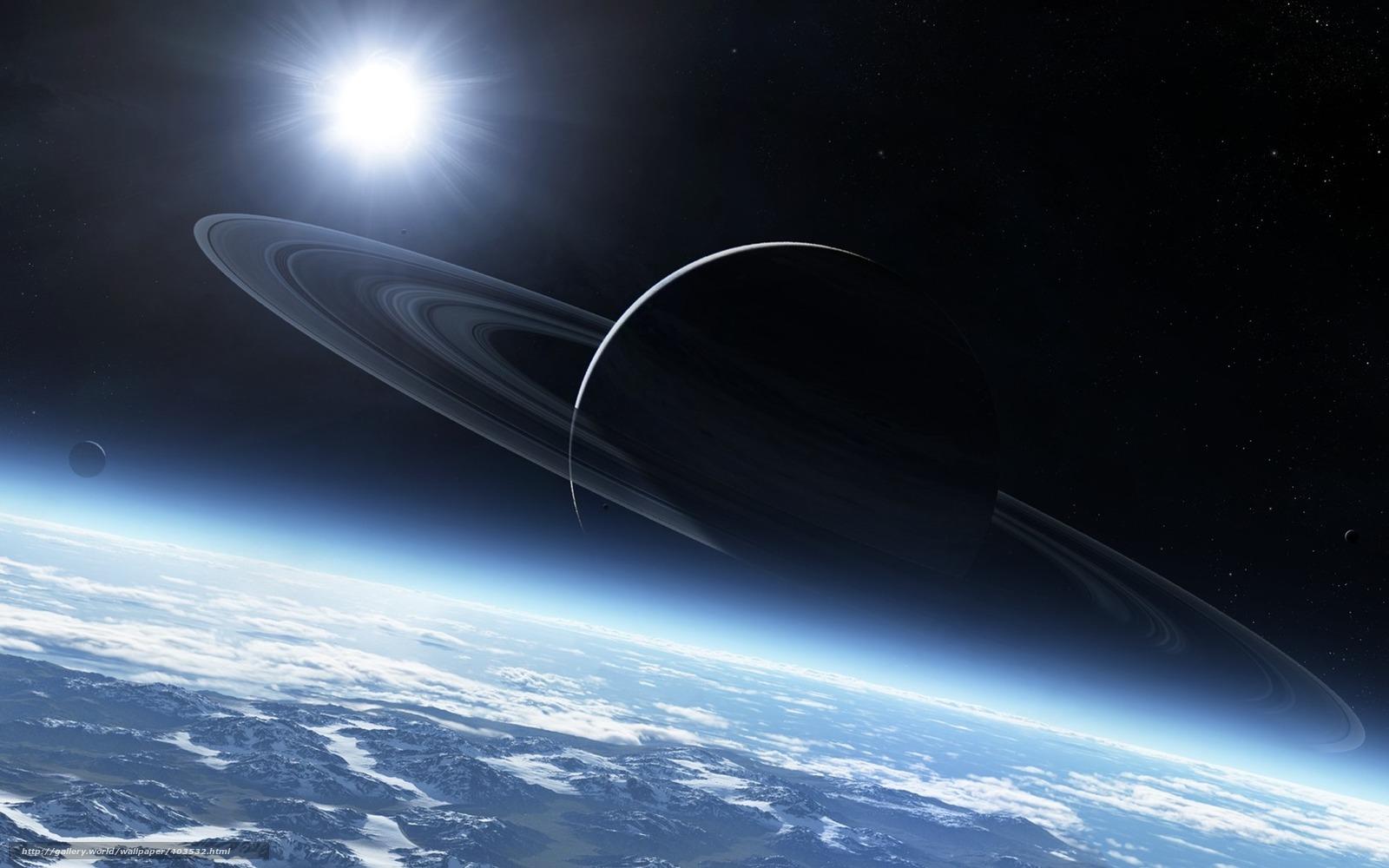 Скачать обои планеты космос звезды