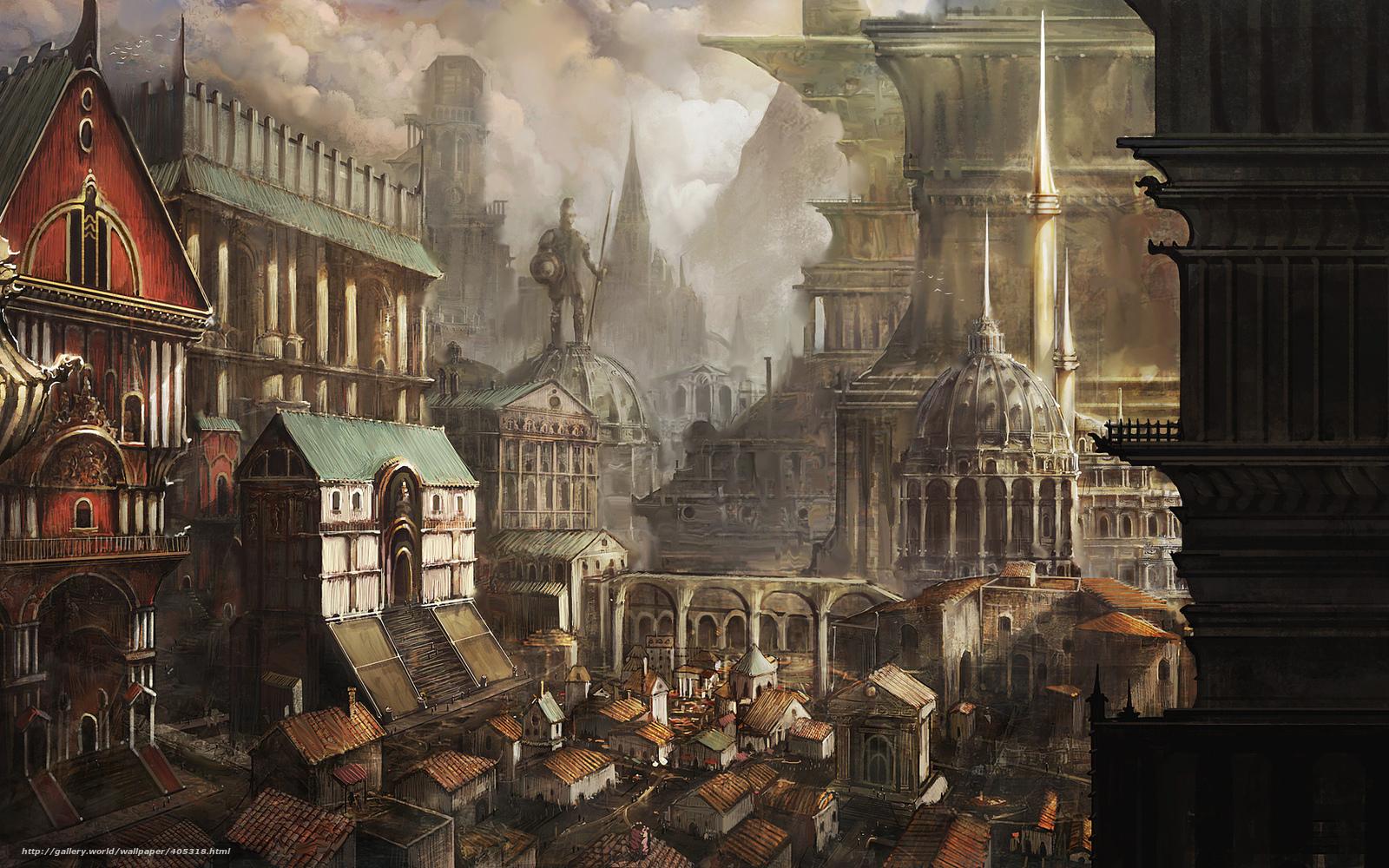 Fantasy art city - photo#19