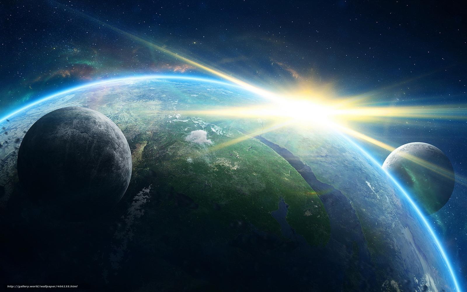 Скачать обои космос земля планета
