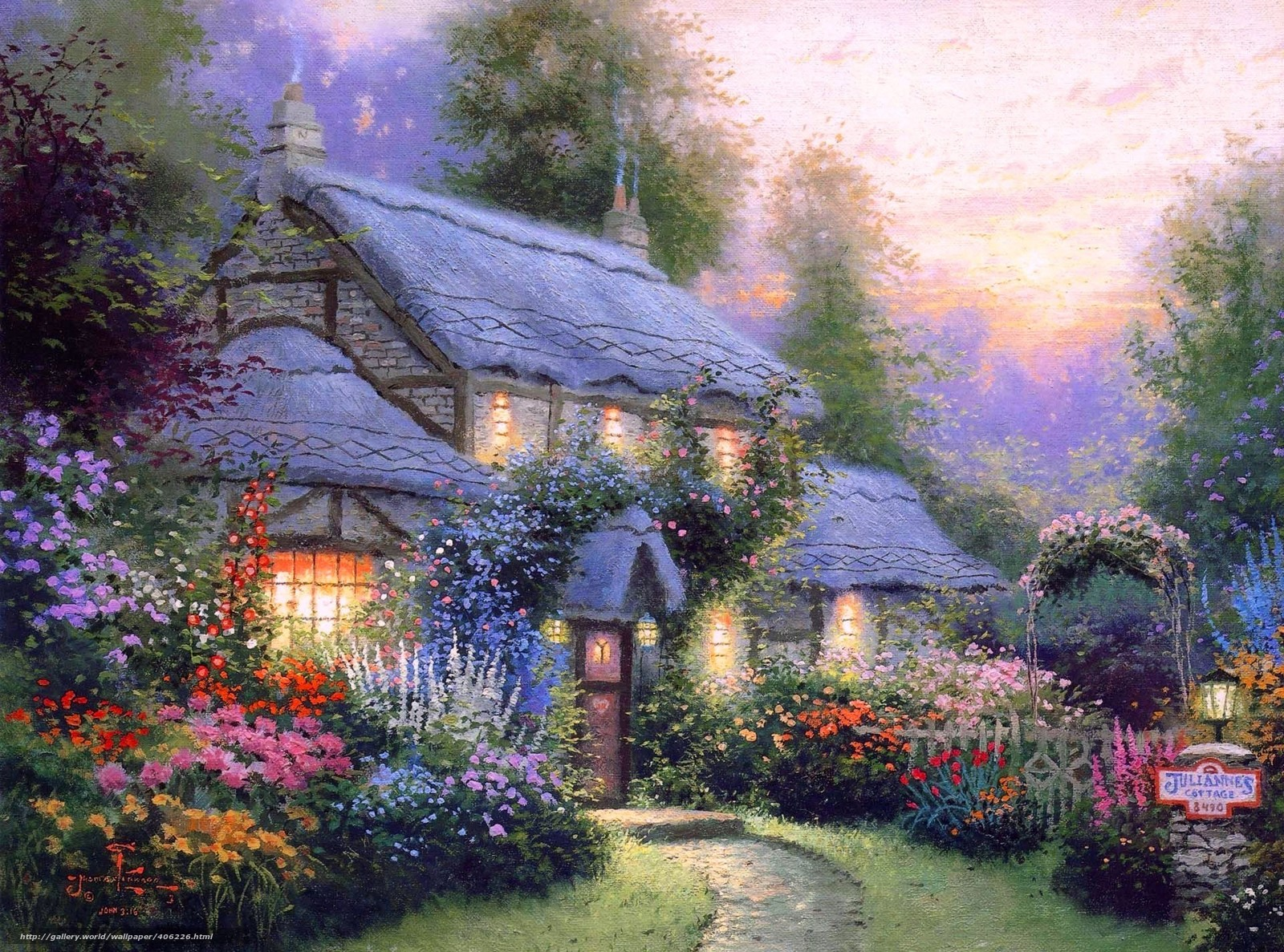 summer cottage wallpaper - photo #2