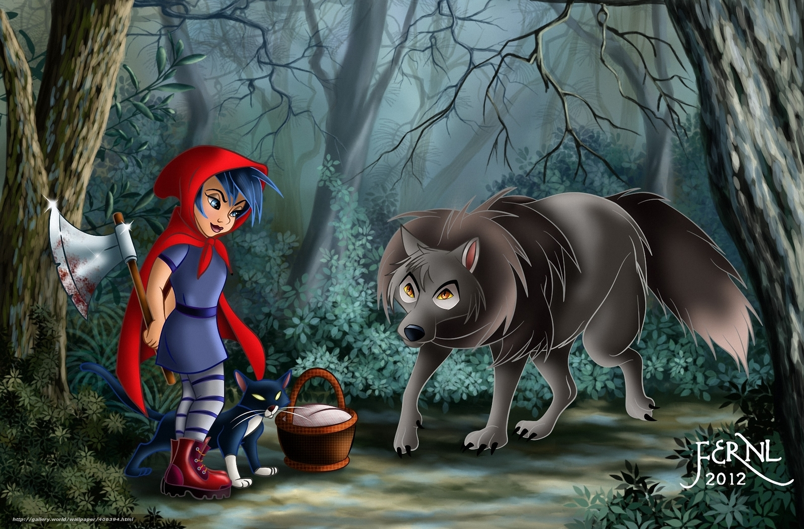 волк, топор, кот, крзина...