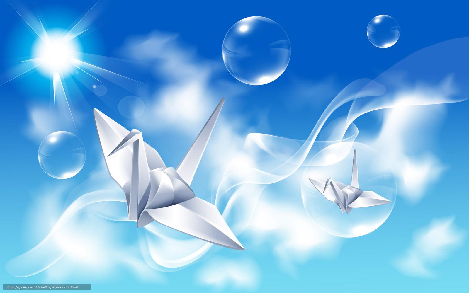下载壁纸 折纸, 鸟类,