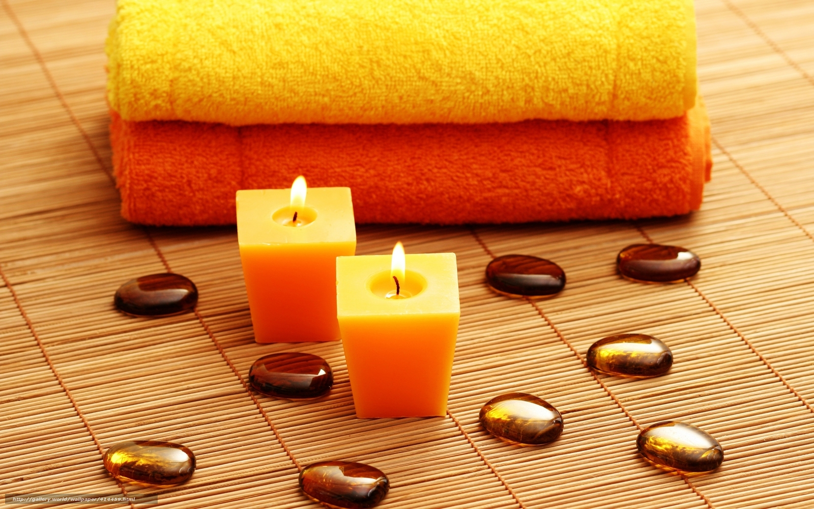Download wallpaper candles spa stones towels free for Salon wallpaper